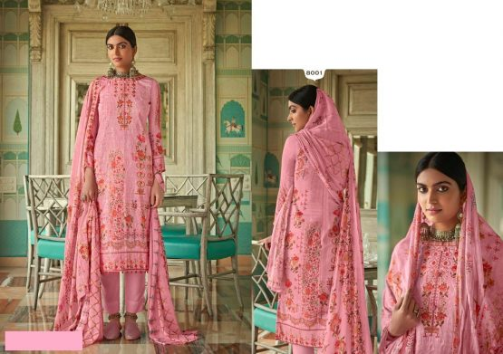 DS FABRICS Chiffon Print Womens Dress Material With Pure Premium Jam Cotton Satin Digital Print with Heavy Aari Work