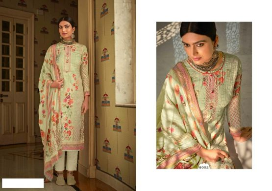 DS FABRICS Chiffon Print Womens Dress Material With Pure Premium Jam Cotton Satin Digital Print with Heavy Aari Work DS FABRICS Chiffon Print Womens Dress Material With Pure Premium Jam Cotton Satin Digital Print with Heavy Aari Work