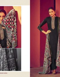 Mumtaz Arts - Pure Lawn Digital Print With Pure Jam Satin Print With Neck & Sleeves Embroidery