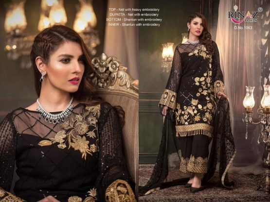 Rinaz Fashion Womens dress material for ladies salwar suit dupatta party wear dress for girls salwaar kameej heavy embroidery clothes